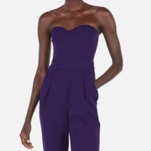 NWT Express Strapless Sweetheart Neck Jumpsuit